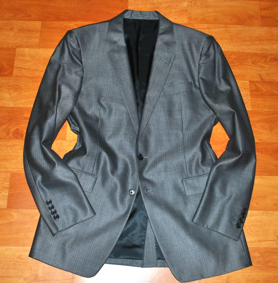 【未使用品】 Calvin Klein カルバンクライン シルク混 最高級 セットアップ スーツ 38 M~L_画像2