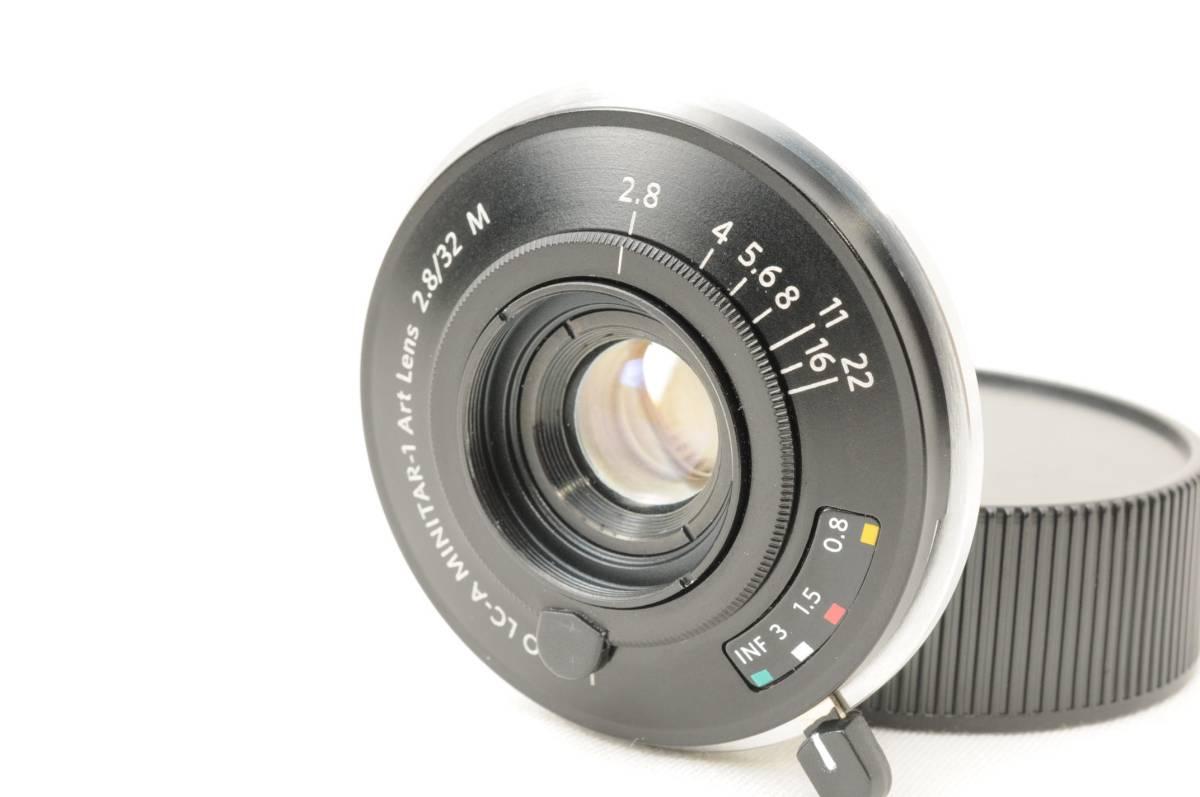 ★超極上美品★LOMO LC-A MINITAR-1 32mm f2.8 Leica M Black 元箱・付属品一式付き#379
