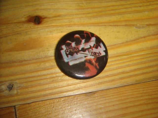 1709ビンテージ80's DEADデッドストックJudas Priestジューダス プリースト缶バッチ オールドOLDピンズHEAVY METALヘビー メタル