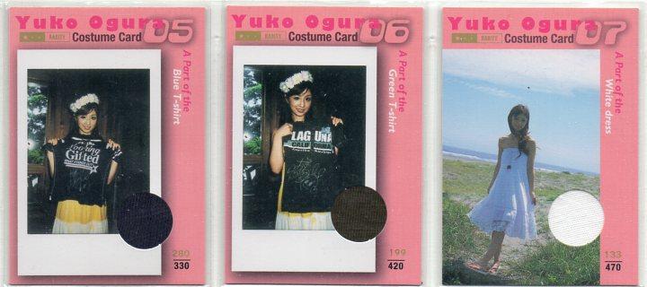 【希少】 小倉優子 コスチュームカード 3枚セット B グッズの画像