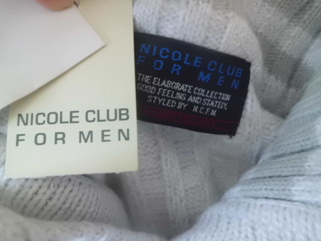 新古品●NICOLE CLUB FOR MEN ニコルクラブフォーメン ニット パーカー 463