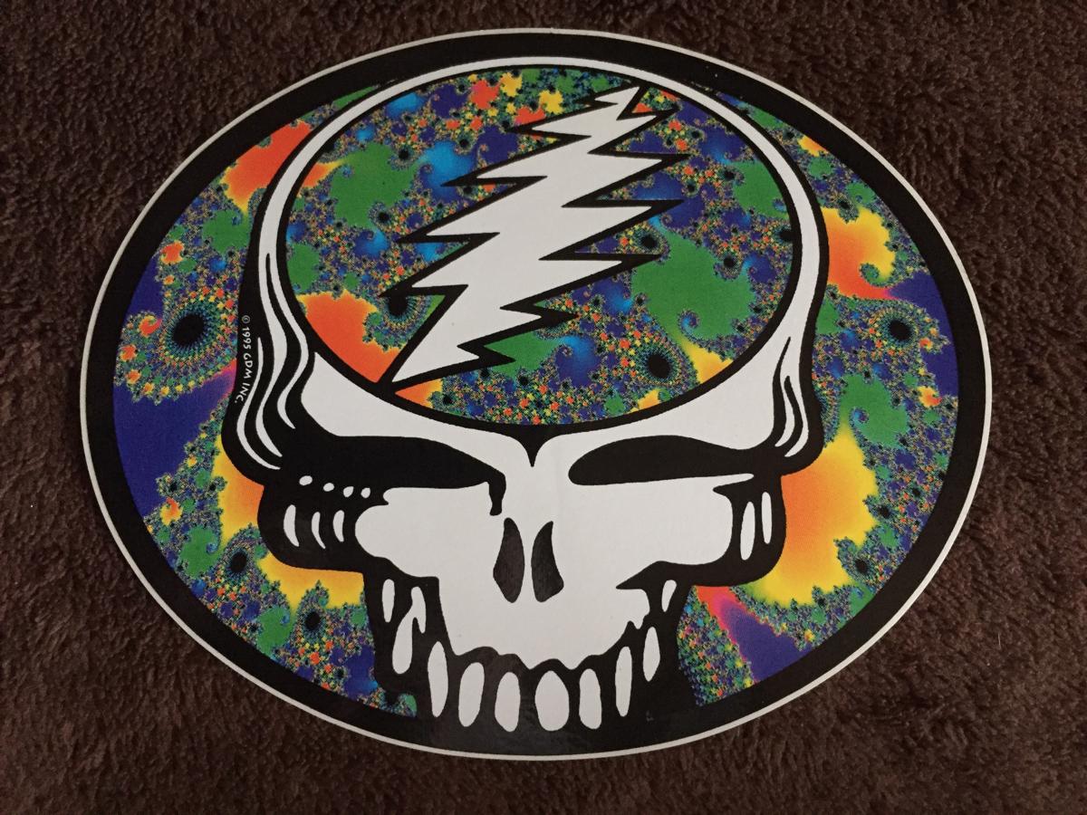 1995製 Grateful Dead ステッカー B / グレートフルデッド ヒッピー チョッパー カルチャー 【送料無料】
