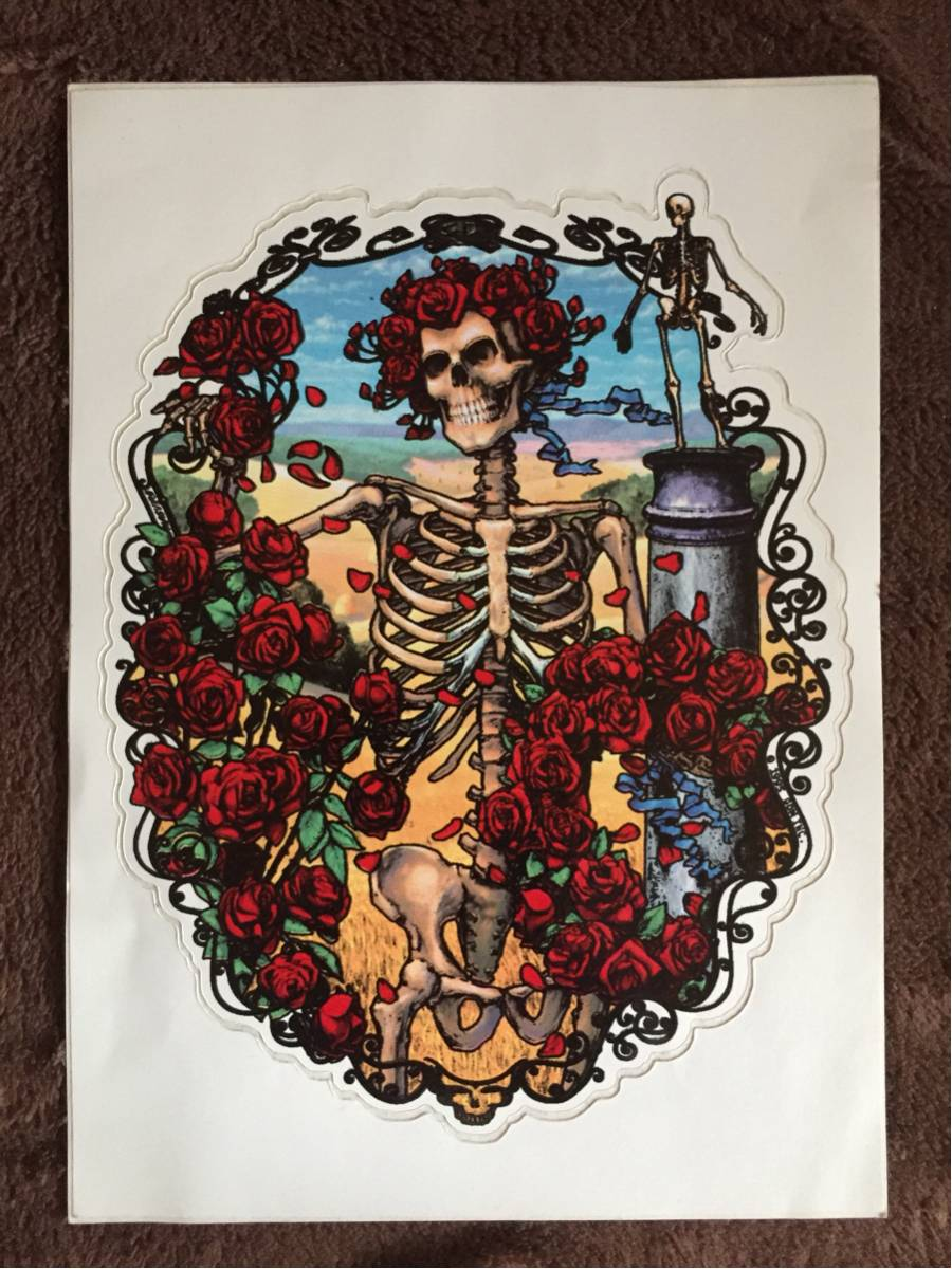 1995製 Grateful Dead ステッカー C/ グレートフルデッド ヒッピー チョッパー カルチャー 【送料無料】