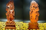 ◆賞玩閣◆567 拓植木 精工 彫刻 不動明王 造像 供奉 仏像 仏教美術 約491.7g