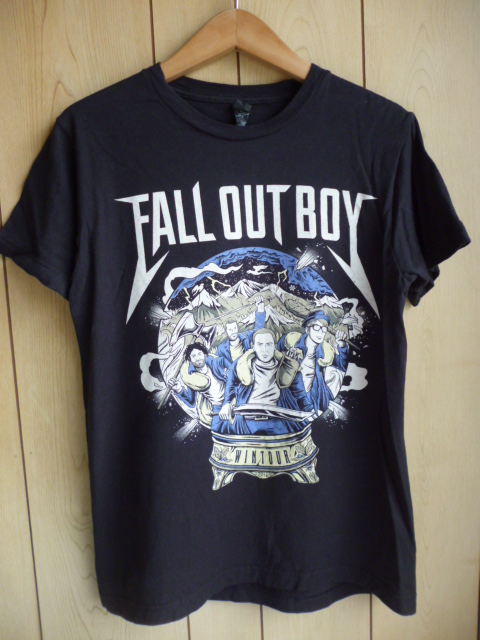 フォール アウト ボーイ ★ 2016年 WINTOUR Tシャツ 黒 S ★ Fall Out Boy マイ ケミカル ロマンス パニック アット ザ ディスコ バンド