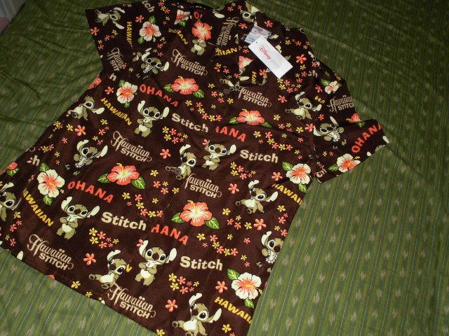 新品スティッチ アロハシャツ サイズM ディズニーストアー 定価¥6195 ディズニーグッズの画像