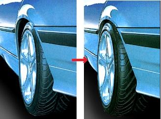 20mm ホイール スペーサー メルセデス ベンツ CLKクラス W208 W209 AMG ロリンザー ブラバス カールソン ハーマン ART Mercedes Benz 純正_画像3