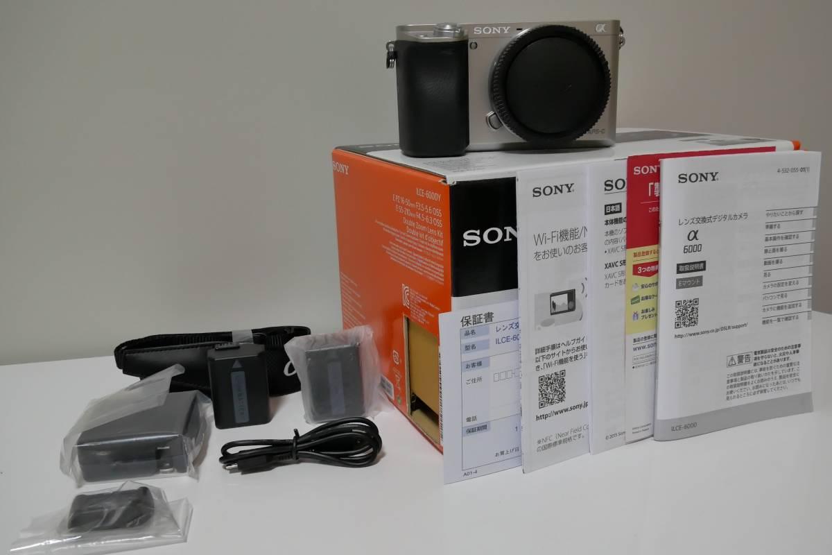 SONY ILCE-6000 α6000ボディ メーカー保証2018/4月まで 新品同様 未使用付属品多数