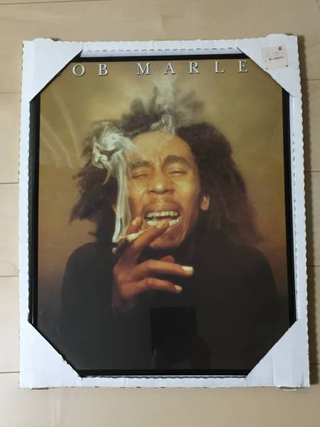 BOB MARLEY ボブ・マーリーポスター 黒フレーム付き (未使用品) 。Made in USA。