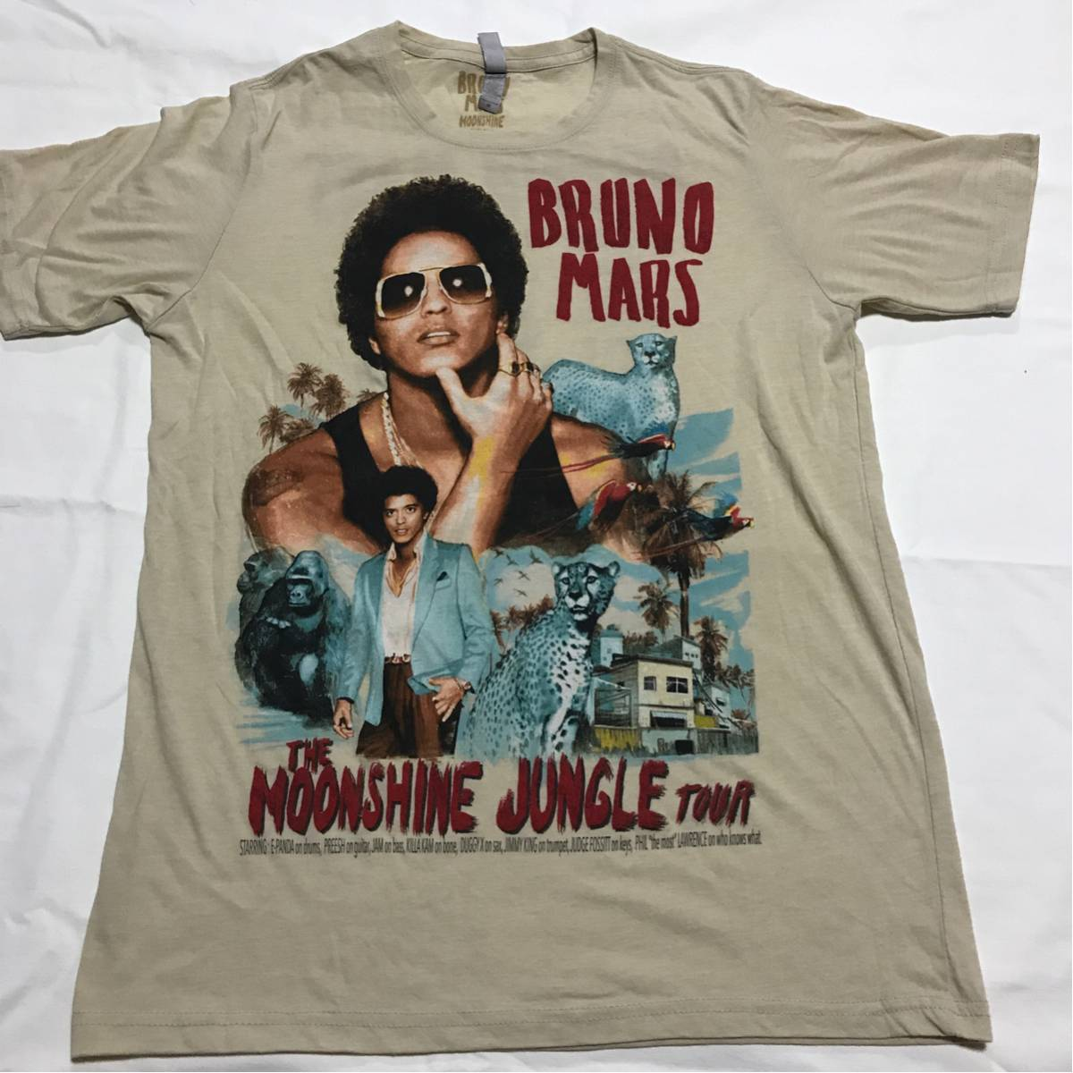 BRUNO MARS ブルーノ マーズ TOUR Tシャツ rap tee tees hiphop vintage レア kanye wu tang la 2pac snoop hawaii exile gucci 美品