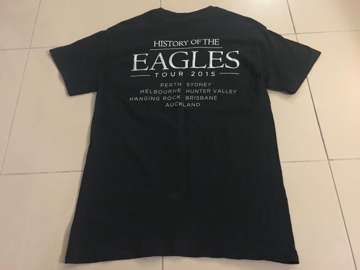 【レアロックTシャツ】 EAGLES [イーグルス] 『HISTORY OF THE EAGLES TOUR 2015』 Mサイズ グレンフライ・ラストツアー_画像3
