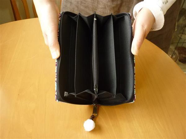 タイ、モン族など色々な刺繍の縦長財布(その67)_画像3
