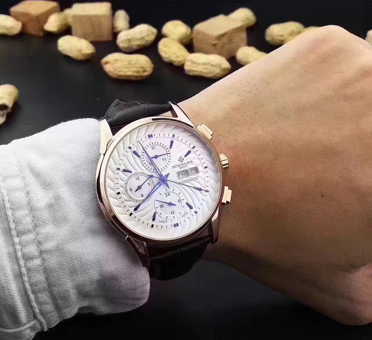 新品 パテックフィリップ 自動巻き メンズウォッチ Patek Philippe ステンレス 腕時計 機械