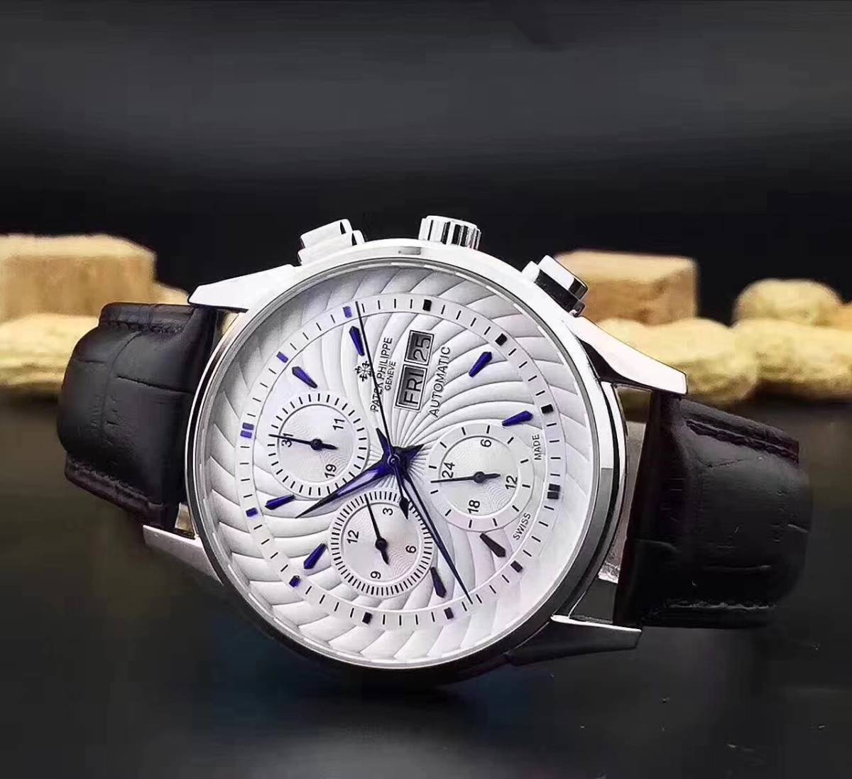 新品 パテックフィリップ 自動巻き メンズウォッチ Patek Philippe ステンレス 腕時計 機械 _画像2