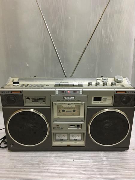 907-3 昭和レトロ 日立 パディスコ ラジカセ TRK-8280 ラジオOK 中古 ジャンク