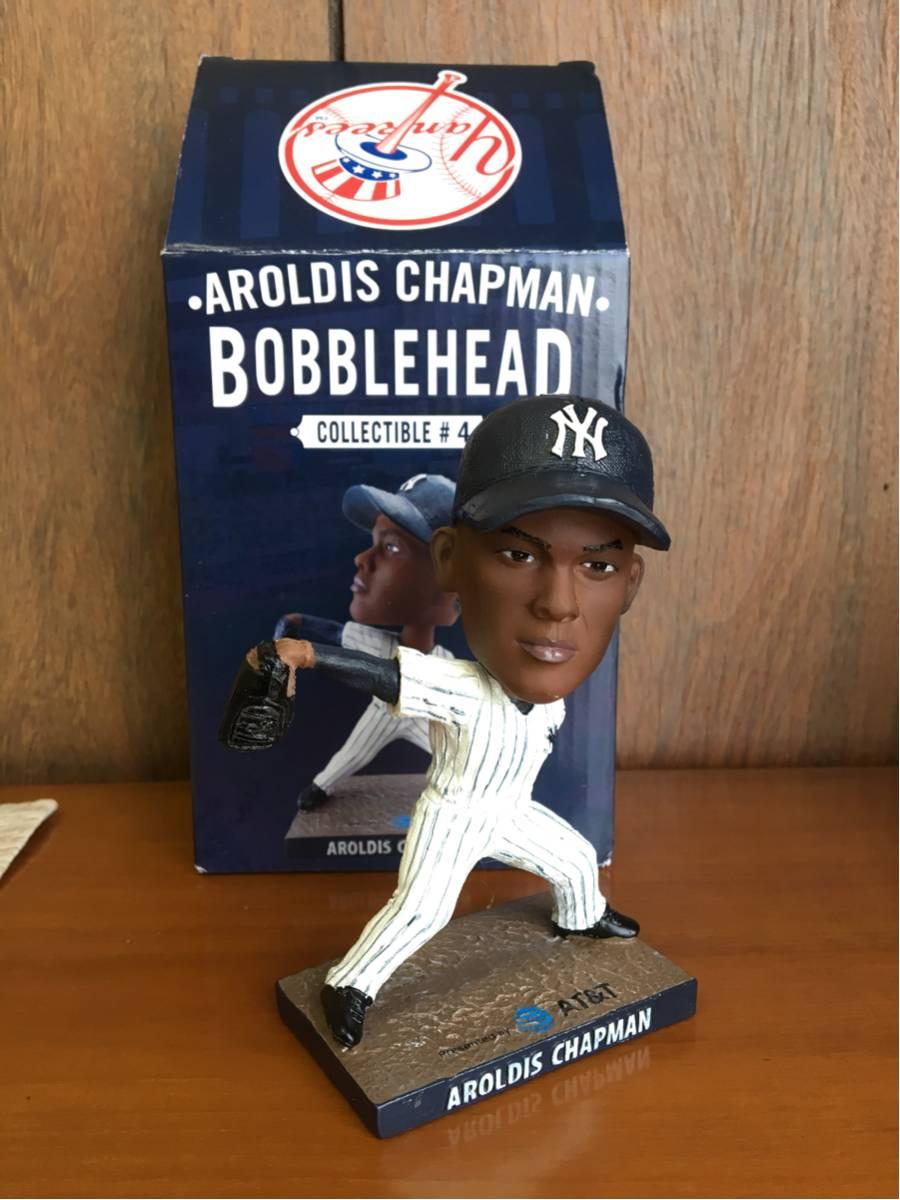 チャップマン バブルヘッド MLB ヤンキース フィギュア ヤンキースタジアム未使用 メジャー グッズの画像