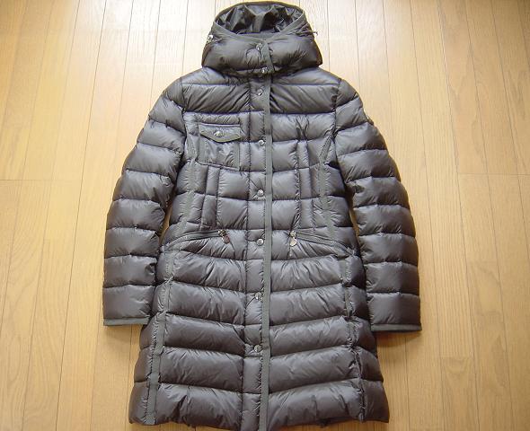 TG2 エルミンヌ 本物MONCLER新品HERMINE 直営店購入 グレー ロング コート