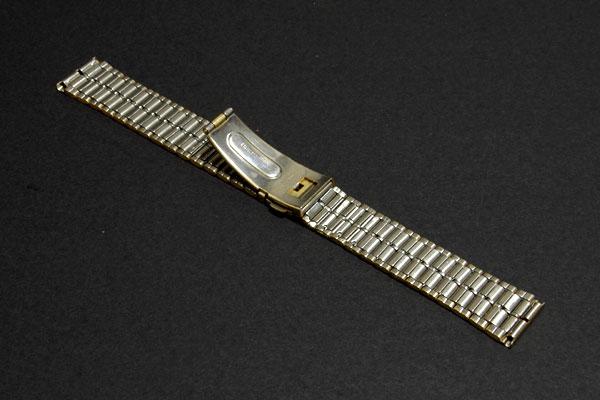 【送料無料】18mm幅 バンビ 金メッキ ワンタッチ中留め 時計バンド _画像2