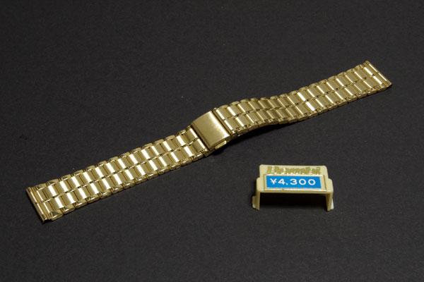 【送料無料】18mm幅 バンビ 金メッキ ワンタッチ中留め 時計バンド _画像1