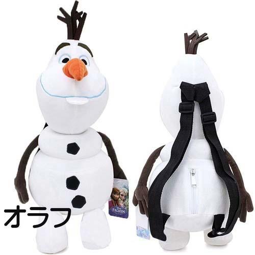 新品 (バッグ)アナと雪の女王 ぬいぐるみ 人形 リュック オラフ ディズニーグッズの画像