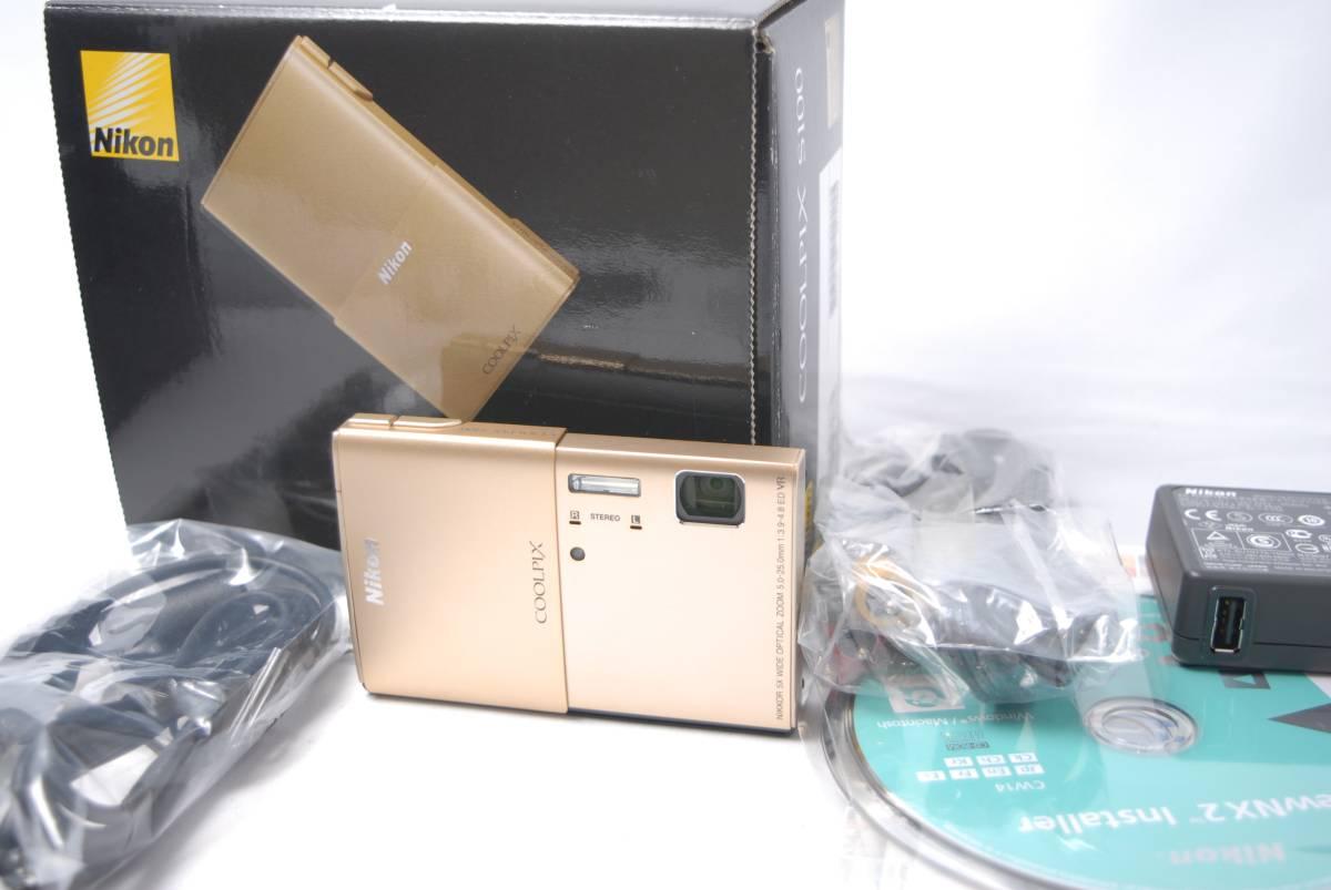 値下げ!★☆新品同様!ニコン Nikon COOLPIX S100 16.0メガピクセル コンパクトデジタルカメラ ゴールド☆★