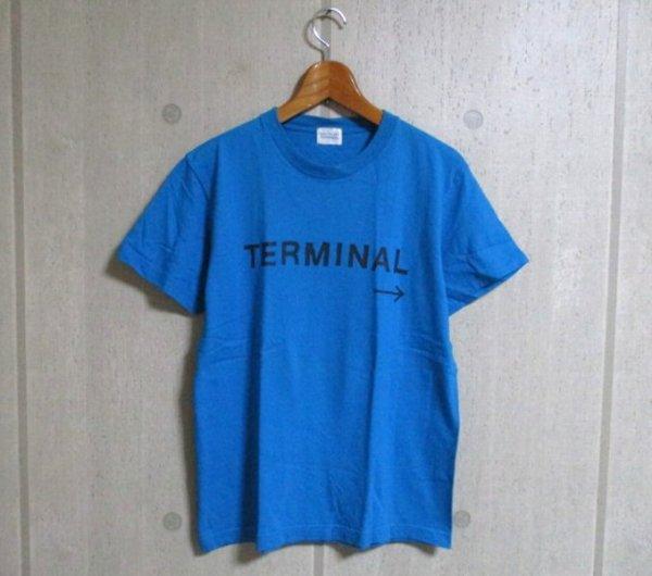 a839 Salyu TOUR 2007 TERMINAL プリントTシャツ 青系 34