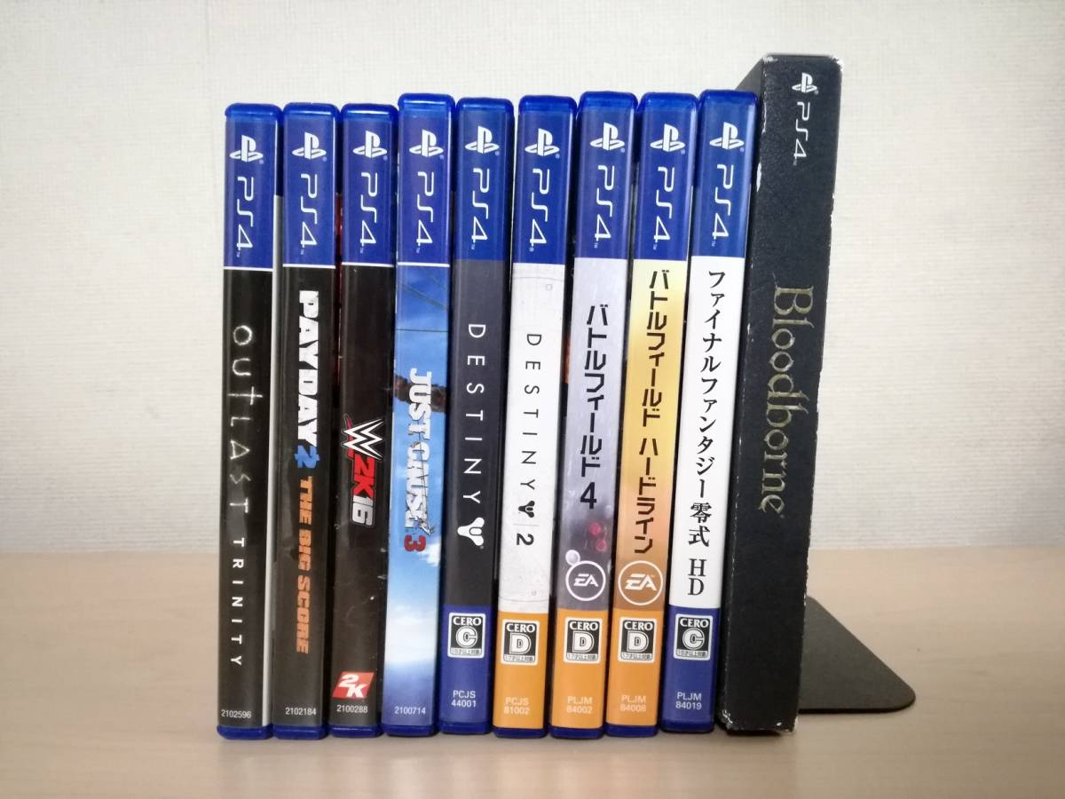 PS4ソフト 10本セットまとめて Destiny2 Outlast BF FF零式 Payday2 The Big Score Just Cause 3など