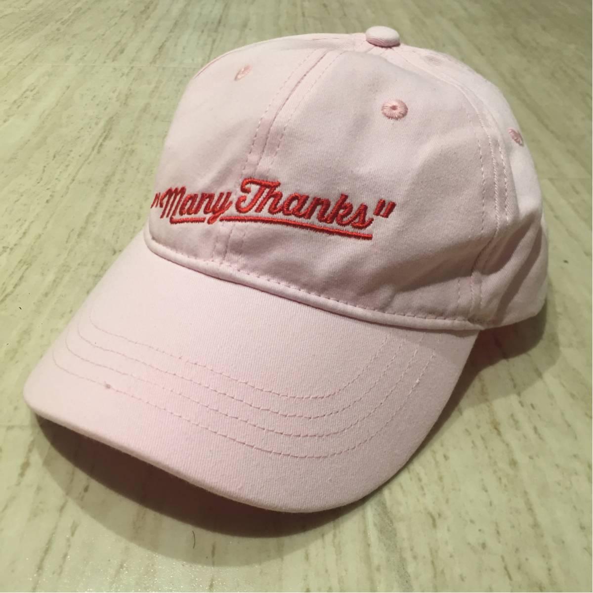 美品 西野カナ Dome Tour 2017★Many Thanks★グッズ オリジナルキャップ PINK(京セラ東京