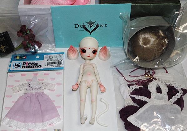 【Dollzone/Doll zone】mini kitty / minikitty 旧白肌 フルセット(オーダーメイク) + ピコニーモ服等 美品【送料無料】