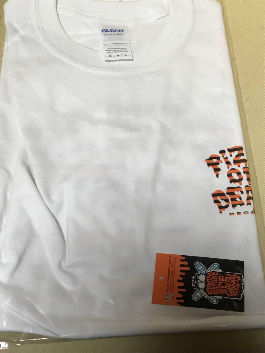 【限定レア】Mサイズ pizza of death×小沢健二 白地×オレンジTシャツ ライブグッズの画像
