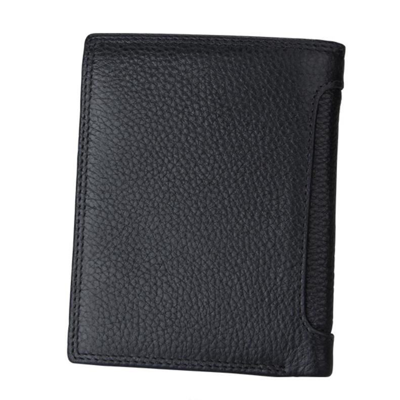 二つ折り 三つ折り 財布 本革 牛革 メンズ 大容量 小銭入 カード10枚 黒色 即決 多機能  二つ折り財布 送料無料_画像4