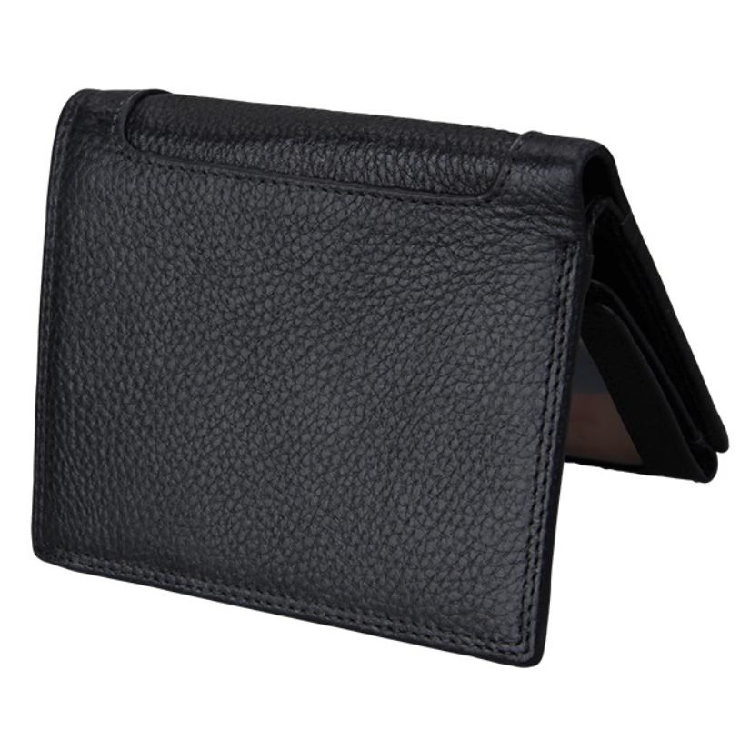 二つ折り 三つ折り 財布 本革 牛革 メンズ 大容量 小銭入 カード10枚 黒色 即決 多機能  二つ折り財布 送料無料_画像6
