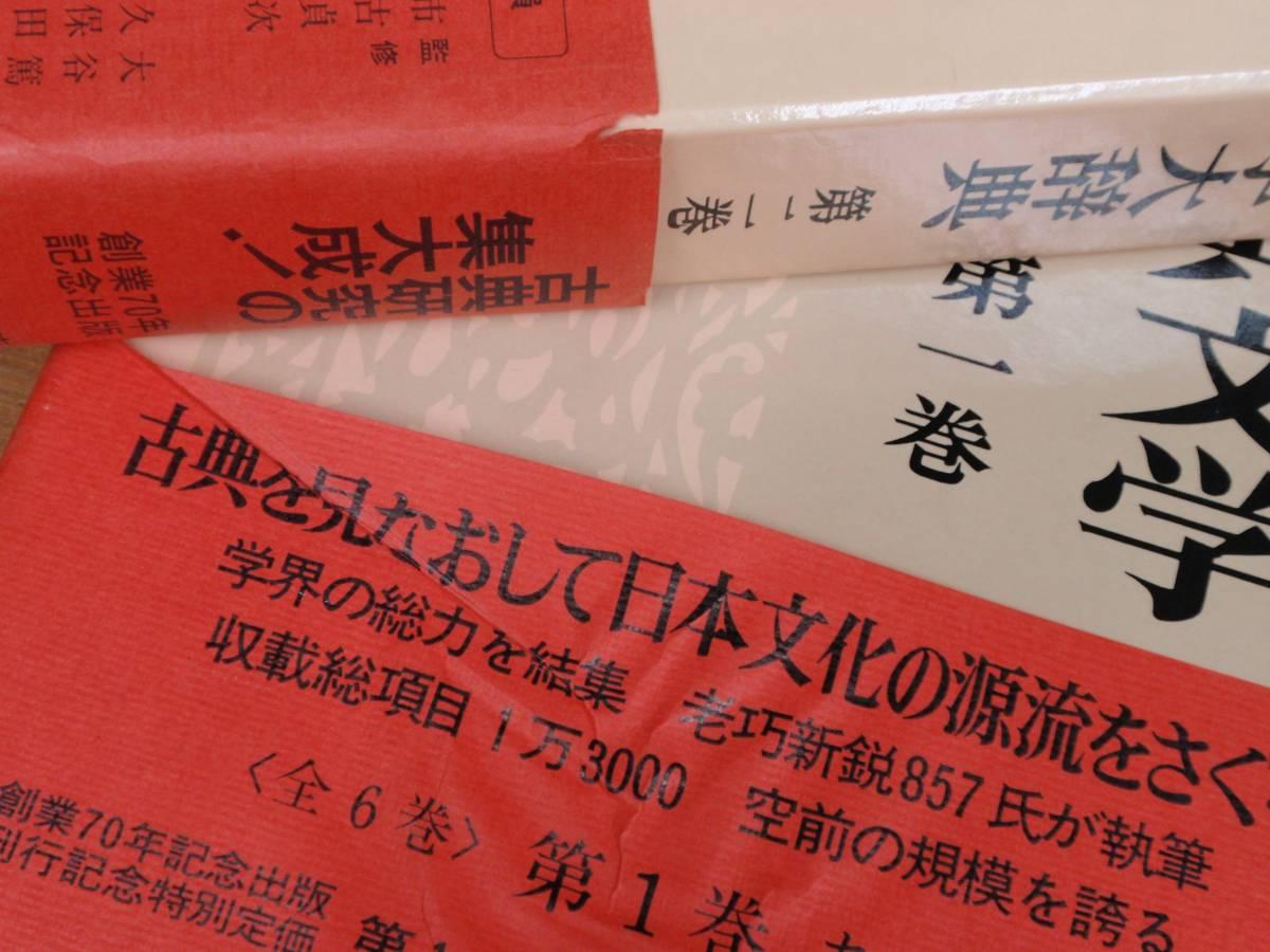 岩波書店 日本古典文学大辞典 全6巻セット_画像3