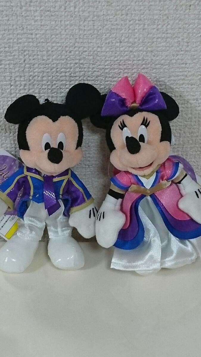 ディズニーシー☆バレンタインナイト2013☆ミッキー&ミニーぬいぐるみバッジ ディズニーグッズの画像