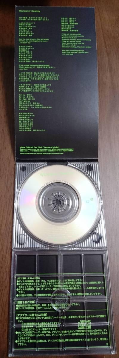 【貴重】廃盤 globe Wanderin' Destiny 8㎝ CD 購入時外装の袋付き 小室哲哉 KEIKO マークパンサー 第11弾シングル 「青い鳥」主題歌_画像2