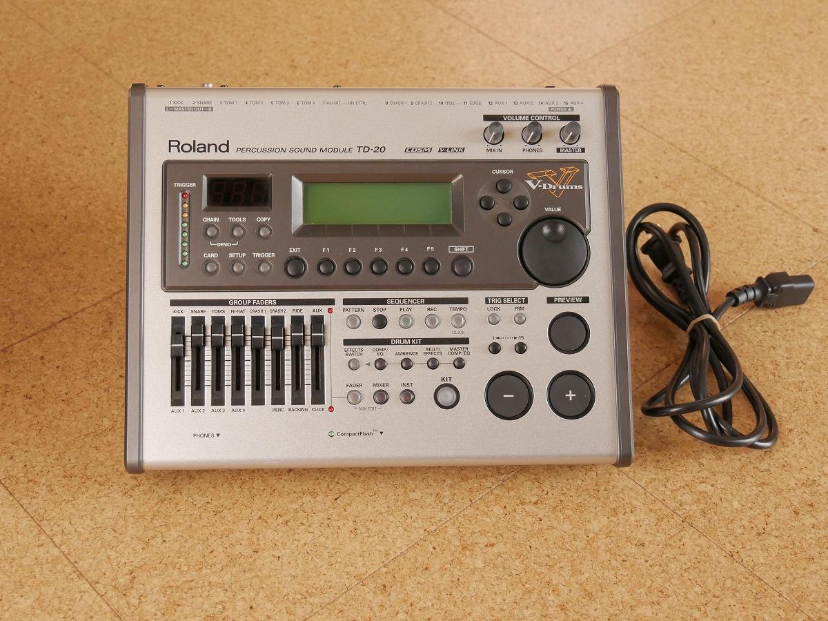 Roland TD-20 ローランド V-Drums音源 サウンドモジュール 液晶に難あり