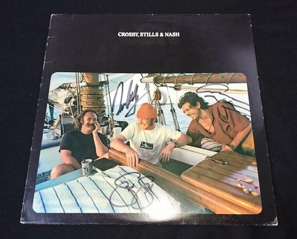 送料無料 クロスビー スティルス ナッシュ 直筆サイン LP レコード / Crosby Stills Nash