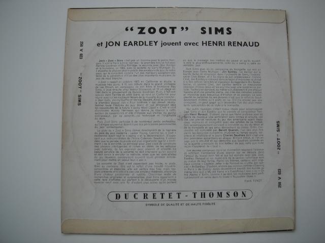 仏原盤 DUCRETTE-THOMSON ZOOT SIMS JAN EARDLEY10LP オリジナル 価格応談_画像2