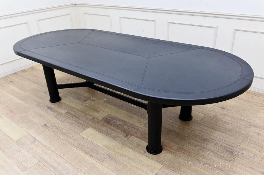 GP11 ◆250万 最高級 クワトロマリアーニ MARIANI 本革 ダイニングテーブル 食卓机 ミー