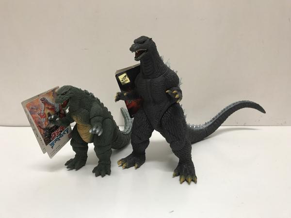 新怪獣王 ゴジラジュニア & ゴジラ2005☆ソフビ・2種セット・バンダイ グッズの画像