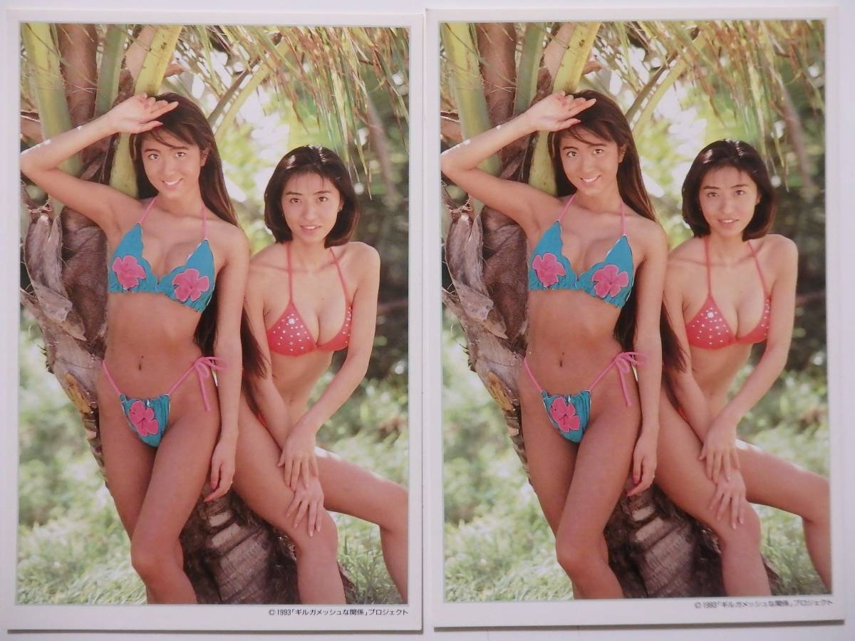 飯島愛&黛ミキ ギルガメッシュな関係 ハガキ2枚セット 1993年