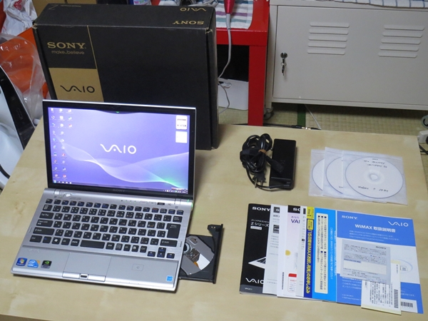 VAIO Z VPCZ119FJ Windows7 i5 8GB SSD WXGA++ NVIDIA WiMAX DVDマルチ Office 2013 Professionl Plus 美品・送料込み
