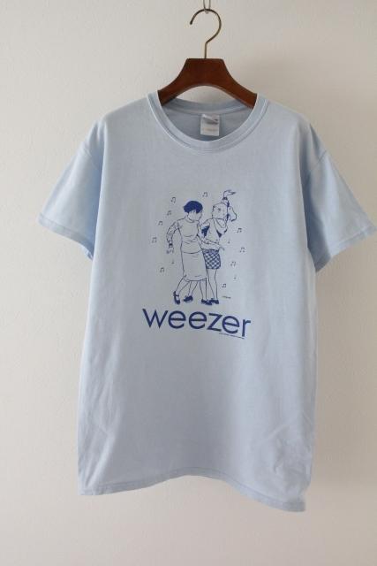 【Weezer】ウィーザー Tシャツ バンドT ロックT 古着 水色 2001年コピーライト入り