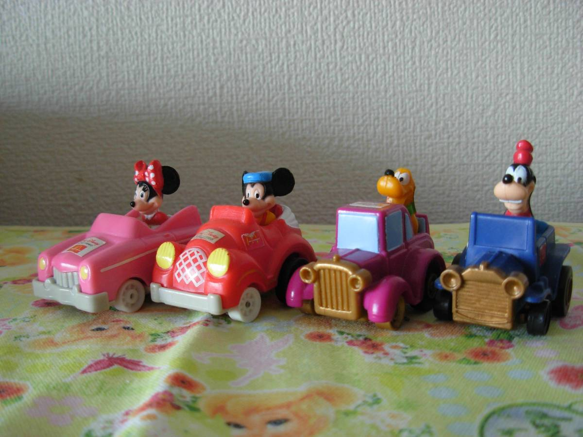 マクドナルド プルバックカー ディズニー ミッキー ミニ 4台セット ディズニーグッズの画像