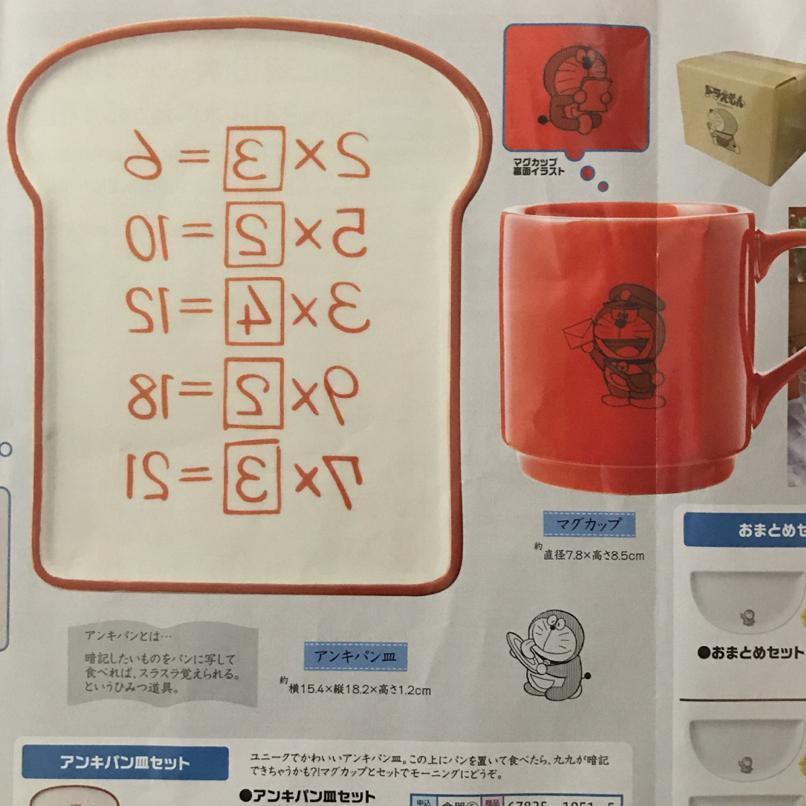 【新品未開封】郵便局限定 ドラえもん暗記パン皿とマグカップセット×2 グッズの画像