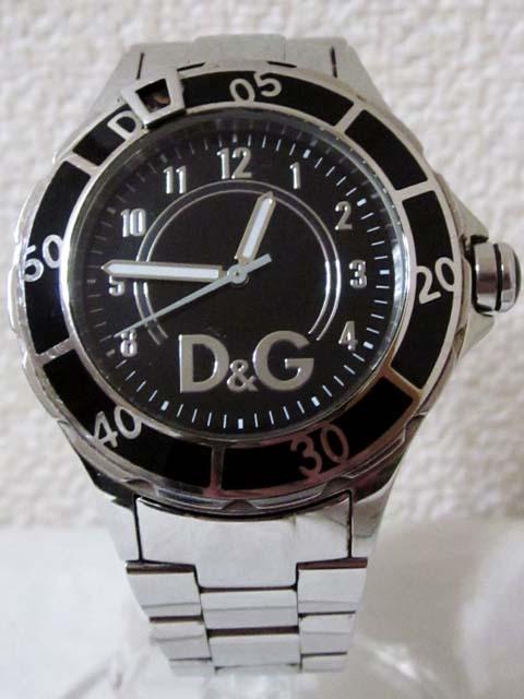 【中古】 D&G DOLCE&GABBANA ドルチェ&ガッバーナ 腕時計 シルバー ブラック[240023055628]
