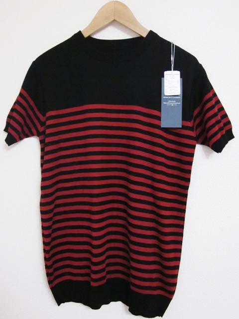 【中古】 RESOUND CLOTHING リザウンドクロージング ボーダー ニット 1~2 黒 赤[240019236603]