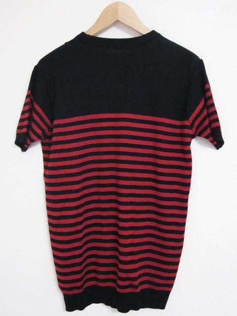 【中古】 RESOUND CLOTHING リザウンドクロージング ボーダー ニット 1~2 黒 赤[240019236603]_画像2