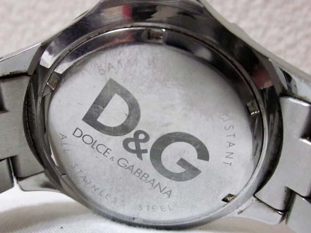【中古】 D&G DOLCE&GABBANA ドルチェ&ガッバーナ 腕時計 シルバー ブラック[240023055628]_画像3