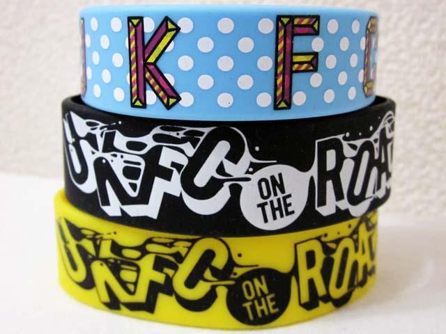 【中古】 UKFC ON THE ROAD ラバーバンド ブレス 3本セット 水色 黄 黒 ラババン[240010217431]